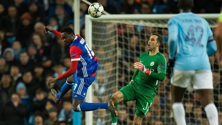 Dimitri Oberlin vergibt eine gute Chance für den FC Basel.