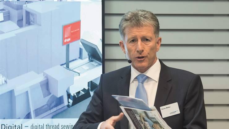 Der Auftragseinbruch im letzten Herbst sei frustrierend, sagt Bruno Müller, CEO von Müller Martini.
