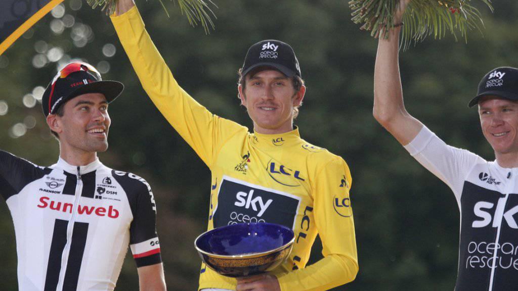 Geraint Thomas vermisst seinen Trophäe für den Gesamtsieg an der Tour de France