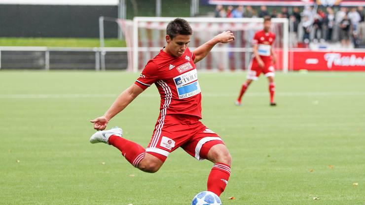 Befinden sich im Duell gegen den FC Bassecourt in der Favoritenrolle: Yves Weilenmann und der FC Baden.
