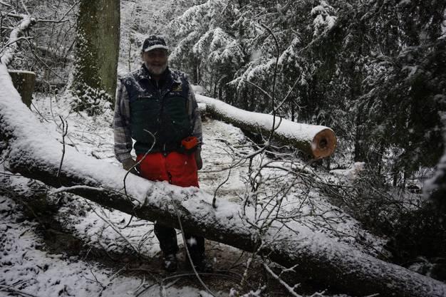Jean-Pierre Mayor arbeitet für die Bürgergemeinde Solothurn im Wald.