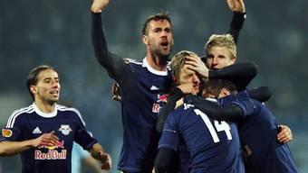 Salzburg feiert den Einzug in die Sechzehntelfinals