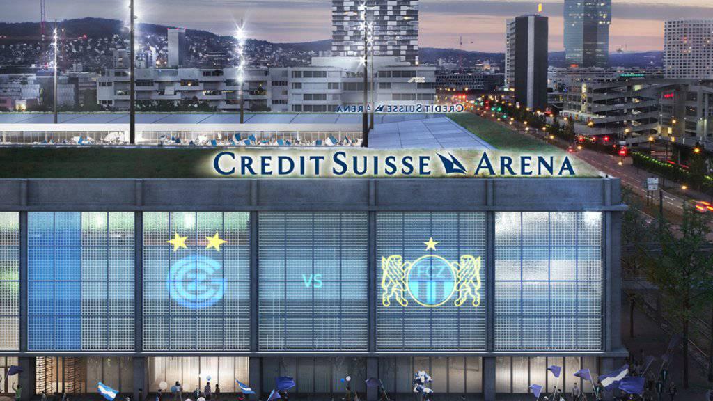 «Credit Suisse Arena» soll auf Hardturm-Areal stehen