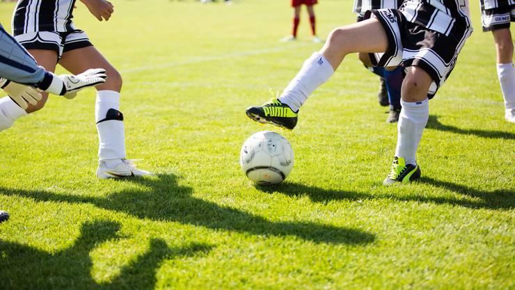 Motivierter Fussballnachwuchs.