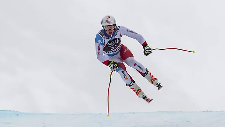 Der Berner Lars Rösti fliegt in Val di Fassa zu Abfahrtsgold bei den Junioren (Archivbild)