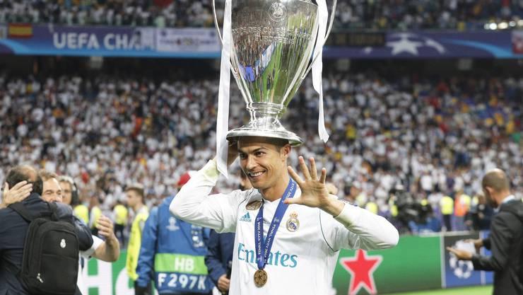 Keiner gewann die Champions League öfter: Cristiano Ronaldo.