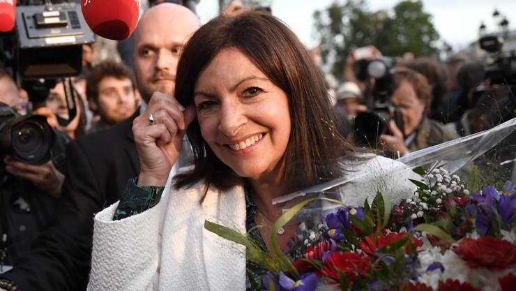 Strahlende Siegerin: Die Pariser Stadtpräsidentin Anne Hidalgo wird nach ihrem Wahlsieg vom Sonntag als Kandidatin fürs Präsidentenamt gehandelt.
