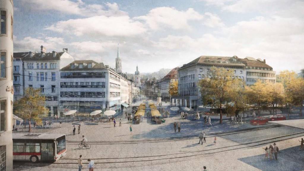 Neuer Marktplatz soll rund 34 Millionen Franken kosten