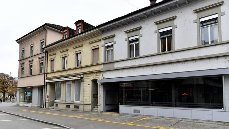 Leere Ladenflächen an der Ringstrasse in Olten - SP-Tagung zur Innenstadtentwicklung