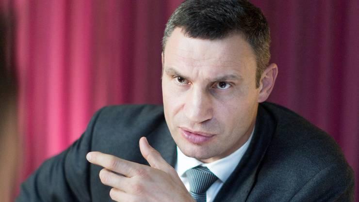 Vitali Klitschk: «Alles, was auf der Krim passiert ist, sei eine Folge der russischen Manipulation.»