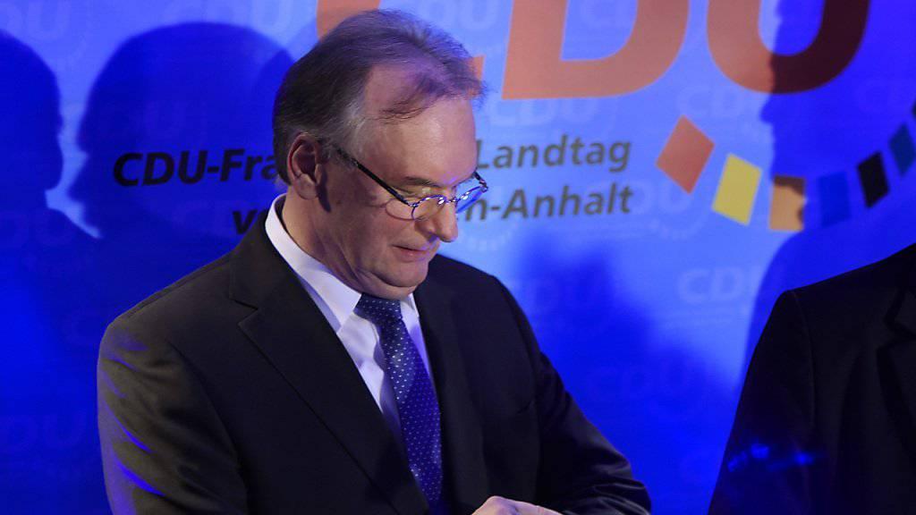 Mit einem blauen Auge davongekommen: CDU von Ministerpräsident Reiner Haseloff gewinnt in Sachsen-Anhalt trotz Verlusten.