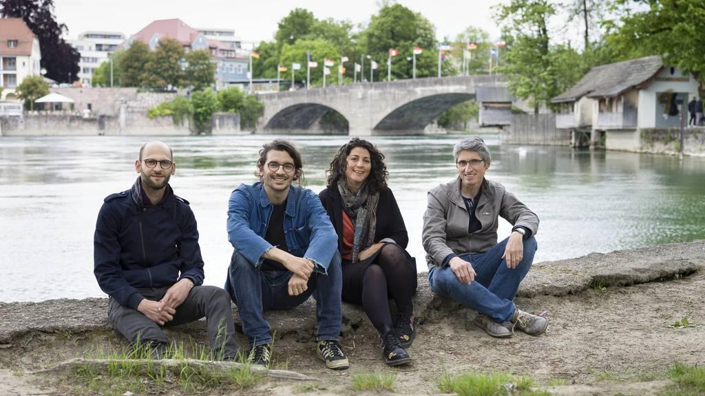 Pierre Szczepski, Mounir Ayoub, Vanessa Lacaille und Fabrice Aragno (von links): Die Kulturschaffenden aus der Westschweiz richten ihren Blick auf Grenzregionen wie in Rheinfelden - für die Ausstellung «Orae - Experiences on the Border» im Schweizer Pavillon an der Architektur-Biennale in Venedig.