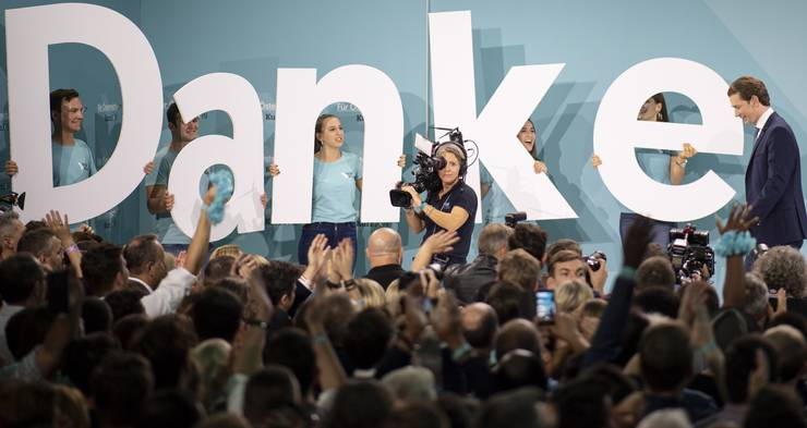 Der Popstar unter den Politikern: Sebastian Kurz.