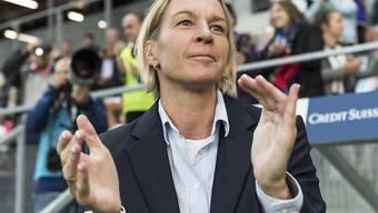 Martina Voss-Tecklenburg kann am Schluss noch ein 2:2 gegen Belgien beklatschen