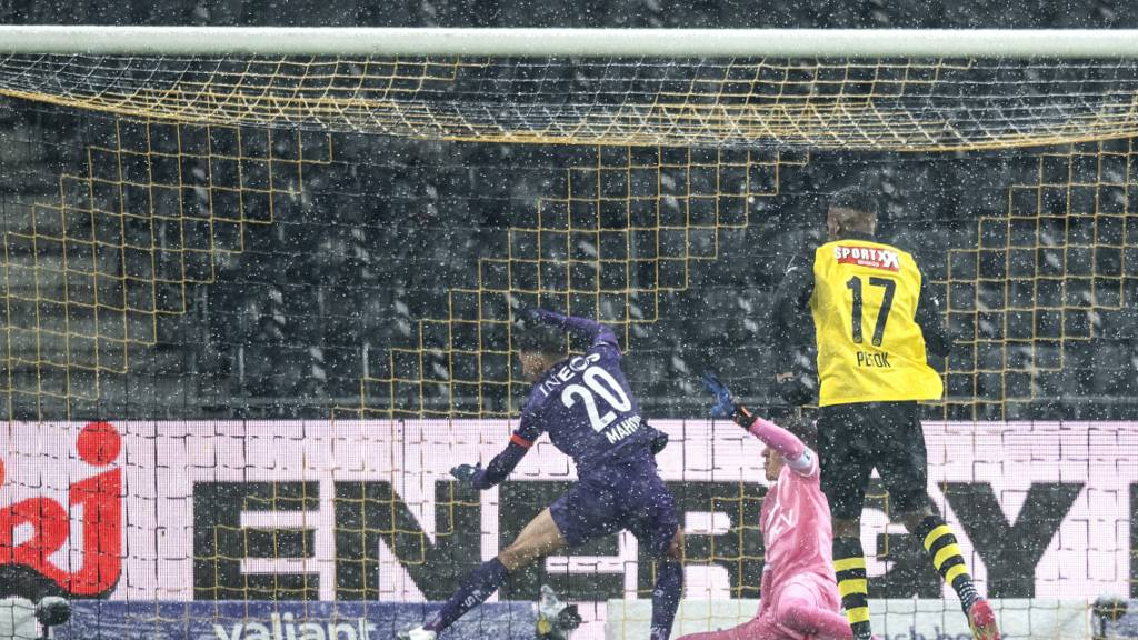 Geglückte Probe für den Auftritt in der Europa League von nächster Woche: Jordan Sibatcheu erzielt als Stellvertreter von Jean-Pierre Nsame das Berner 1:0