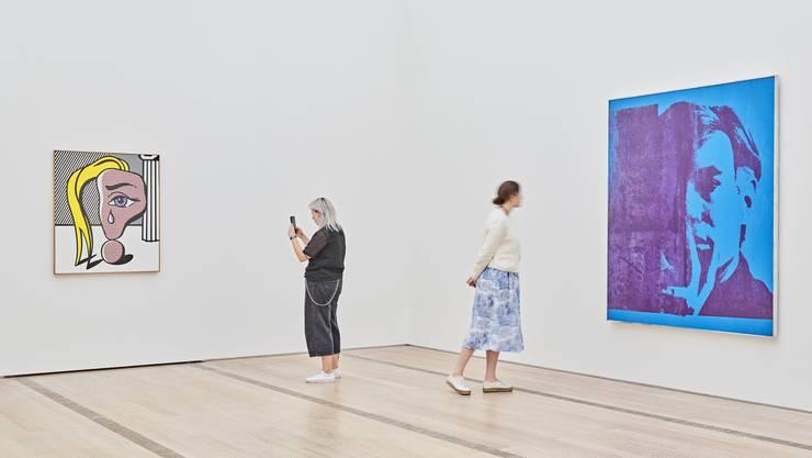 Dreimal im Jahr wird die Sammlung der Fondation Beyeler in Riehen neu gehängt. Derzeit begegnen sich dort Roy Lichtensteins «Girl with Tear III» und Andy Warhols «Self-Portrait».