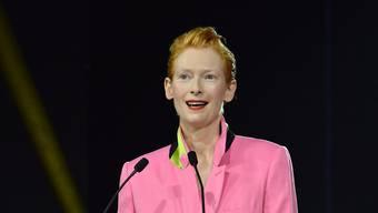 """Die schottische Schauspielerin und Oscar-Preisträgerin Tilda Swinton beschwört an der Eröffnung des Internationalen Filmfestivals in Marrakesch den """"Zauber des Kinos""""."""