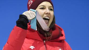 Wendy Holdener strebt im Team-Wettkampf vom Samstag eine weitere Olympia-Medaille an