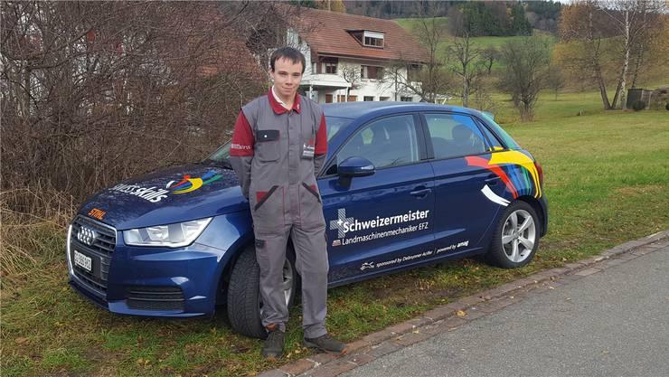 Ambitioniert: Landmaschinenmechaniker Maurice Häner will sich jetzt auch den Europameistertitel holen.