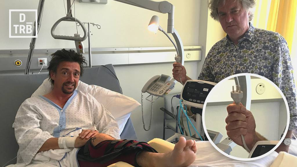 Richard Hammond und James May im Kantonsspital St.Gallen.