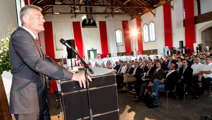 Gastredner Heinz Karrer, Economiesuisse, referierte am HESO-Forum.