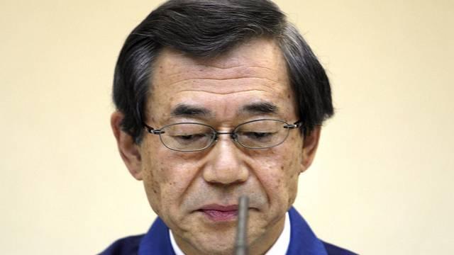 Masataka Shimizu, Tepco-Präsident, bittet um Unterstützung (Archiv)
