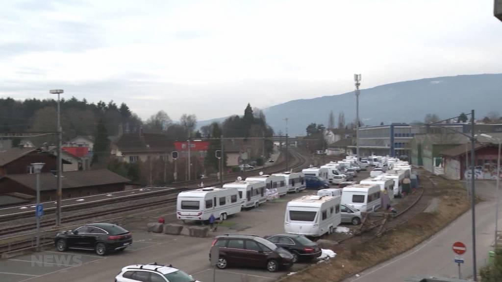 Keinen fixen Platz: Ausländische Fahrende sind zurück in Brügg