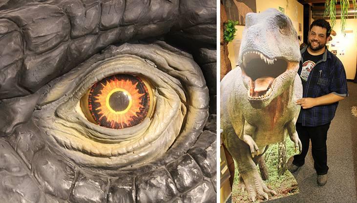 Museumsbetreiber Stefan Frieden mit jenem T-Rex-Modell, das dereinst in Lebensgrösse den Park zieren könnte.