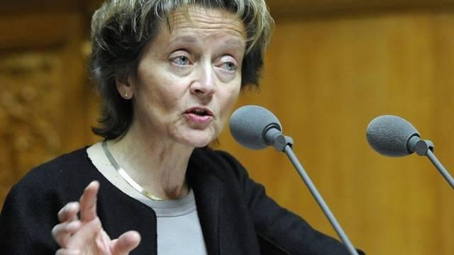 Bundesrätin Widmer-Schlumpf will nicht an der Steuerreform rütteln (Archiv)