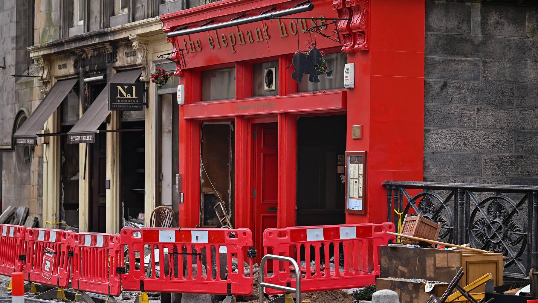 Im vergangenen Monat brannte das, wegen den Harry Potter-Romanen bekannte, Lokal «The Elephant House Café».