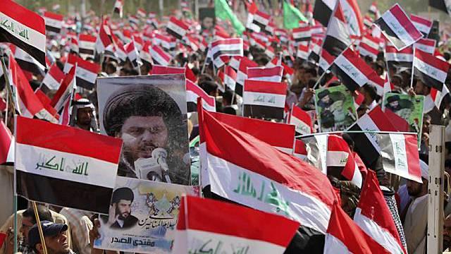 """Parolen gegen """"Besatzer"""" und für Schiiten-Führer Sadr"""