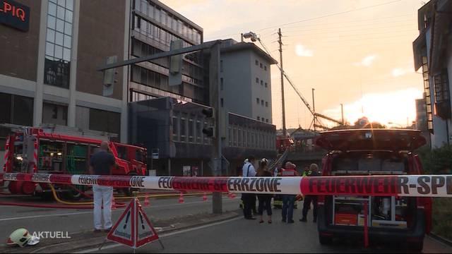 Grosseinsatz wegen Brand beim Bahnhof Olten