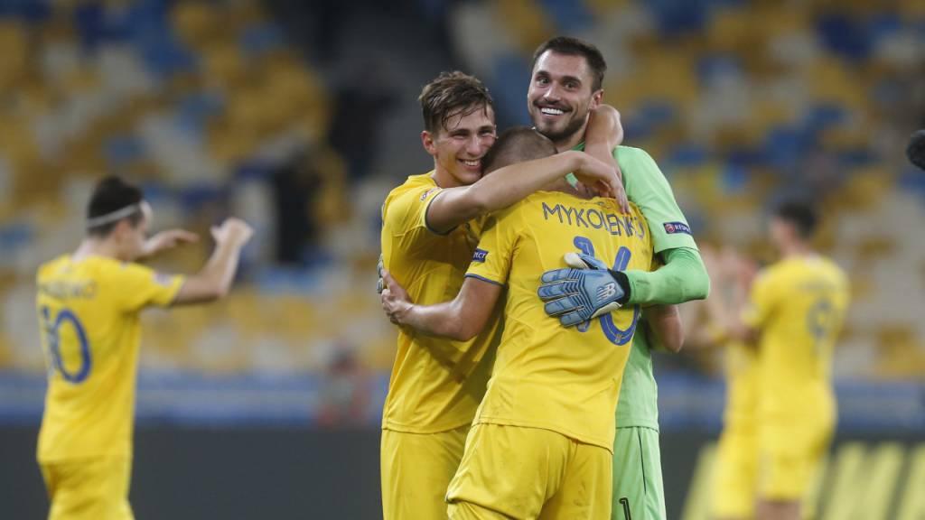 Die Ukraine dank «Last-Second-Tor» im Viertelfinal