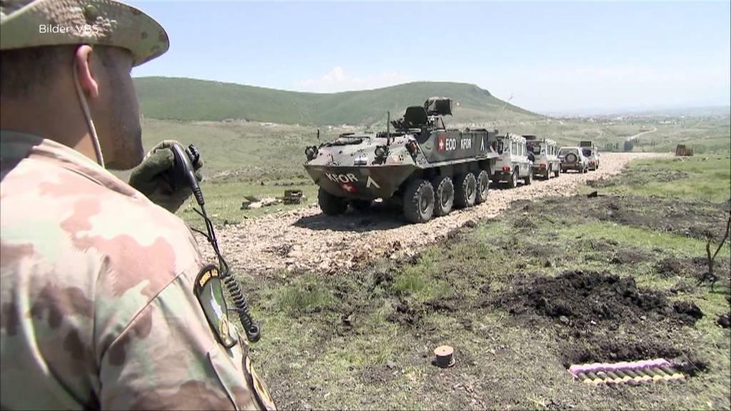 Schweizer Soldaten im Kosovo: Friedenseinsatz soll verlängert werden