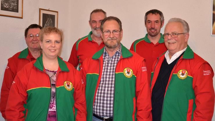 von links nach rechts: hinten: Alfred Rufi, Andy Ort, Marcel Zogg vorne: Simone Ruf, Peter Fasler, Hans Ruf