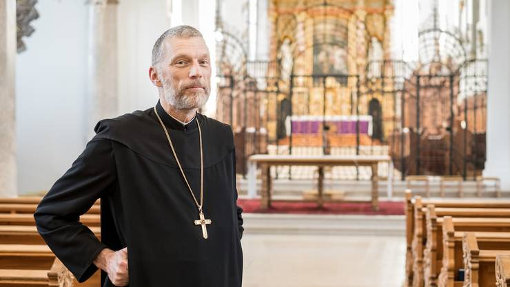 Schweiz am Sonntag: Interviewtermin Abt von Sury, Kloster Mariastein.