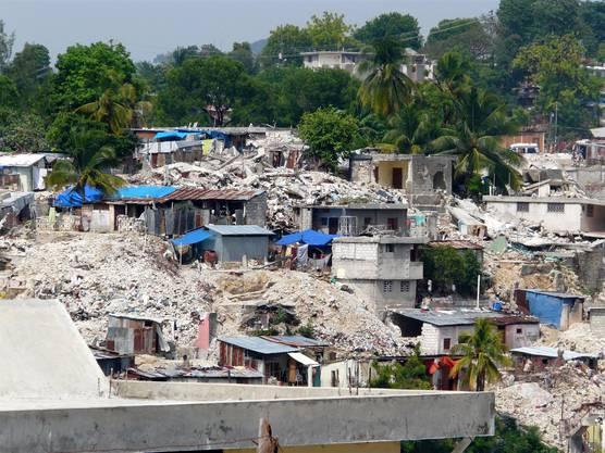 Die Ausmasse des Erdbebens waren katastrophal.