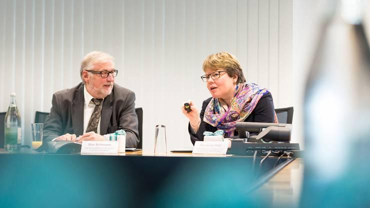 Verwaltungsratspräsident Max Bühlmann und CEO Marianne Wildi präsentierten ein konstantes Jahresergebnis der Hypothekarbank Lenzburg. Sandra Ardizzone