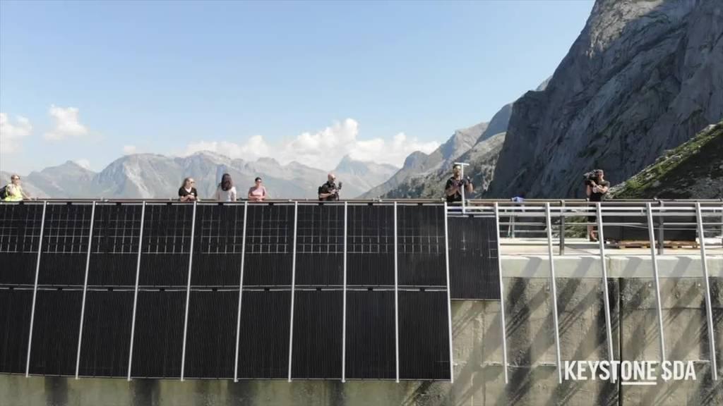 Bauarbeiten für erste hochalpine Solaranlage