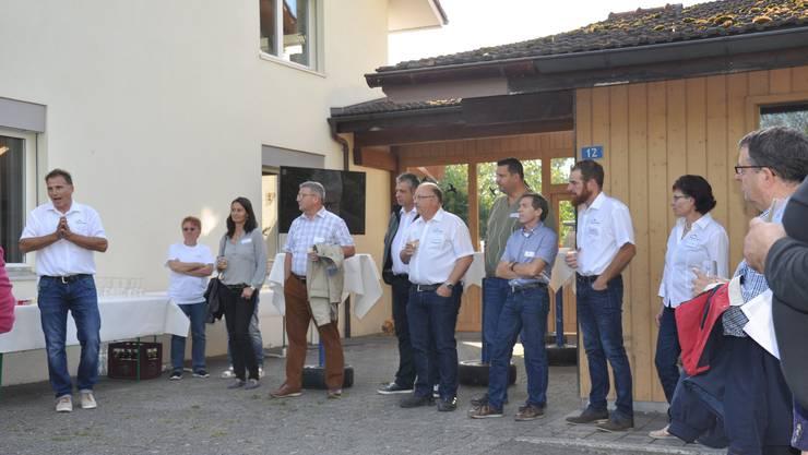 Begrüssung bei Stadelmann + Stutz AG