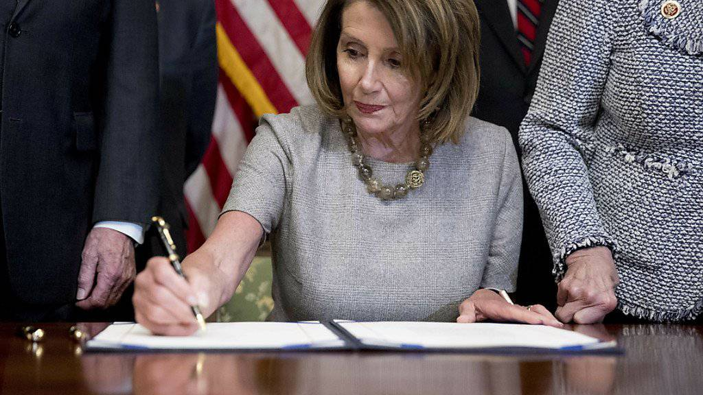 Die Vorsitzende des US-Repräsentantenhauses, die Demokratin Nancy Pelosi.