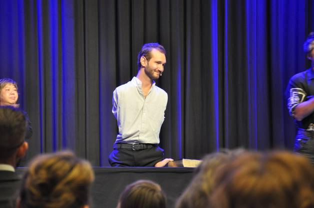 Das Publikum war begeistert von Nick Vujicic