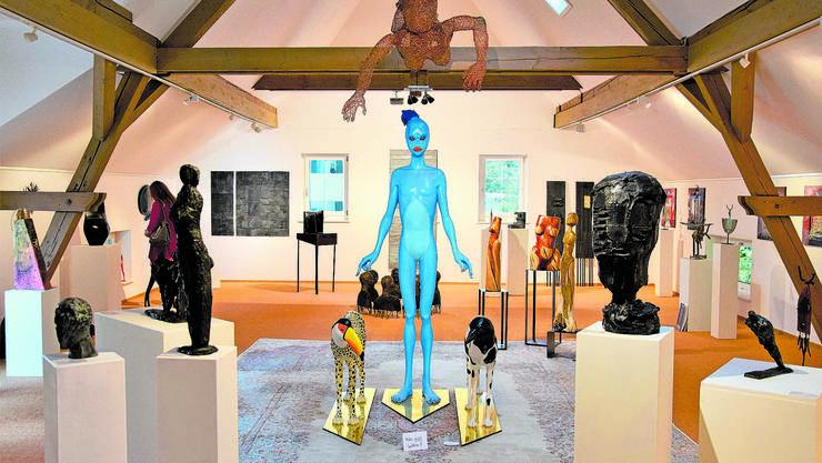Ein Teil der aktuellen Ausstellung in der Kunstgalerie Bachlechner: Am Samstag fand die Vernissage statt.
