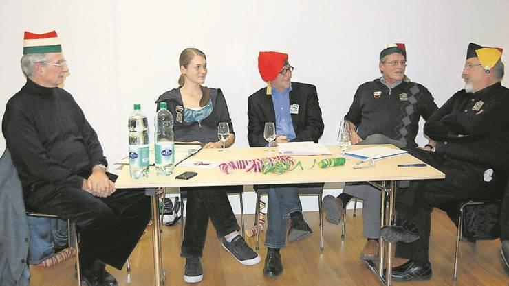 Die unterhaltsame Runde diskutierte im Kultur-Historischen Museum über die Grenchner Fasnacht.