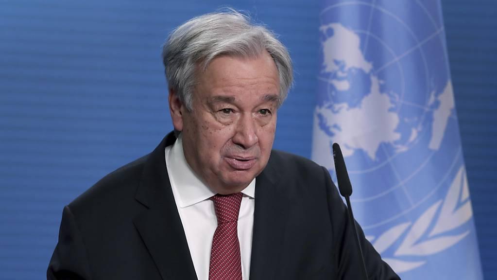 Uno-Generalsekretär Antonio Guterres bewirbt sich für eine zweite Amtsperiode. (Archivbild)
