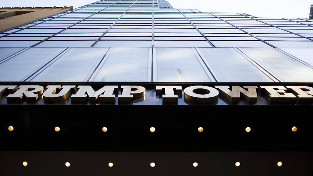 Auf dem gestohlenen Laptop sollen sich nach Medienberichten Daten über den Trump Tower befinden. (Archivbild)