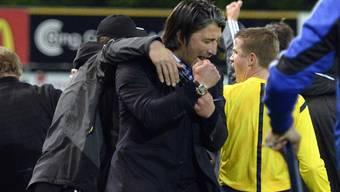 Murat Yakin freut sich über den frühzeitigen Meistertitel.