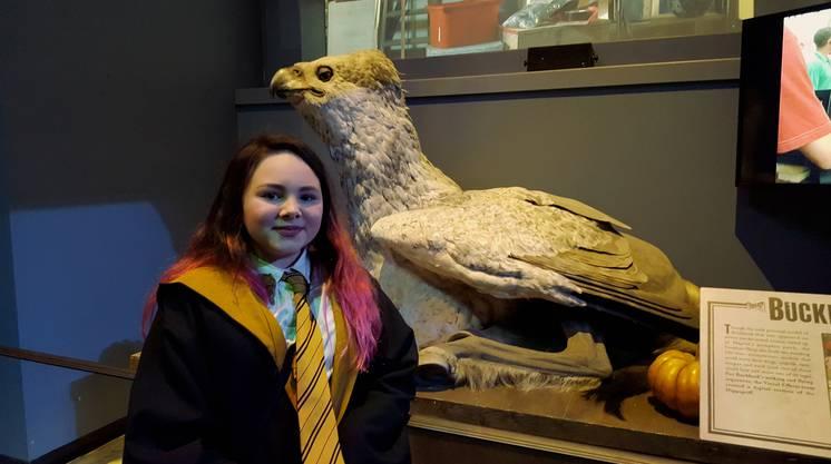 Der wohl grösste Harry-Potter-Fan, den ich in Leavesden finden konnte: Emily (12) aus England.