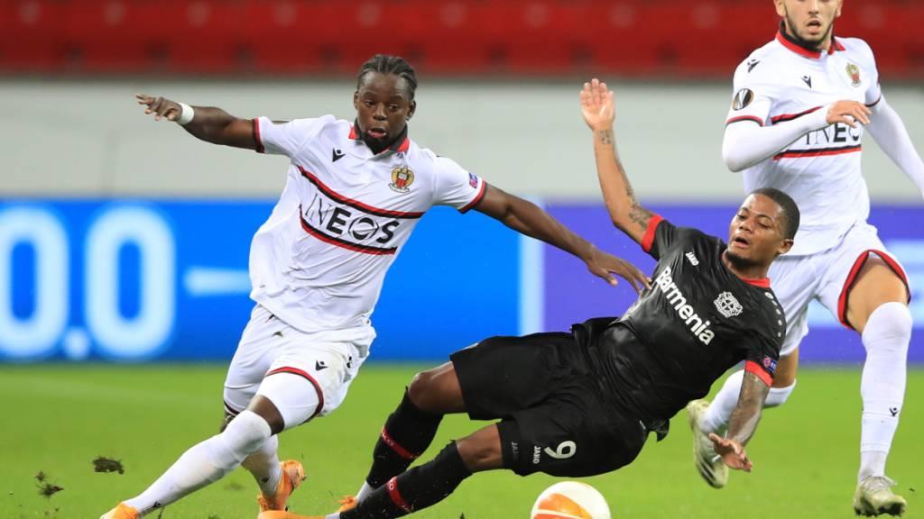 Gut in Form: Nice-Verteidiger Jordan Lotomba (in der Europa League gegen Leverkusen)