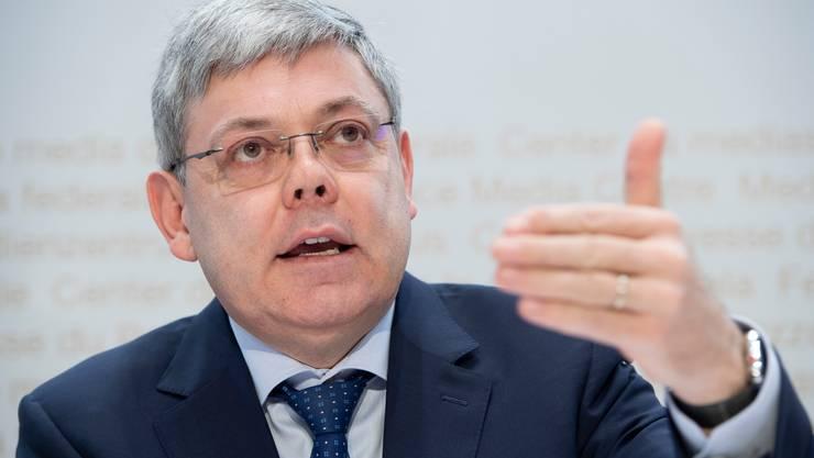 Viele SVP-Vertreter wollen den Luzerner Unternehmer Franz Grüter als neuen Präsidenten. Selbst Ueli Maurer sprach ihn an der Delegiertenversammlung an.